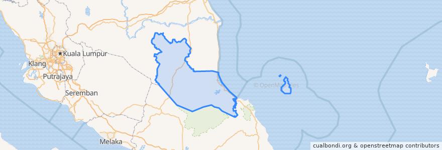 Mapa de ubicacion de Rompin.