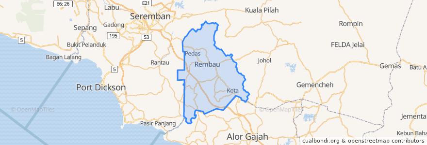 Mapa de ubicacion de Rembau.