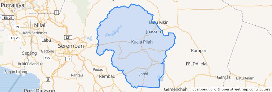 Mapa de ubicacion de Kuala Pilah.