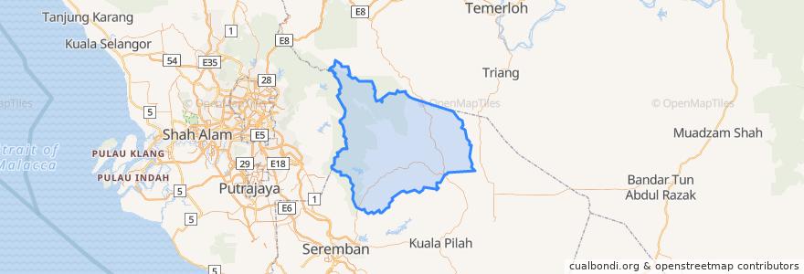 Mapa de ubicacion de Jelebu.