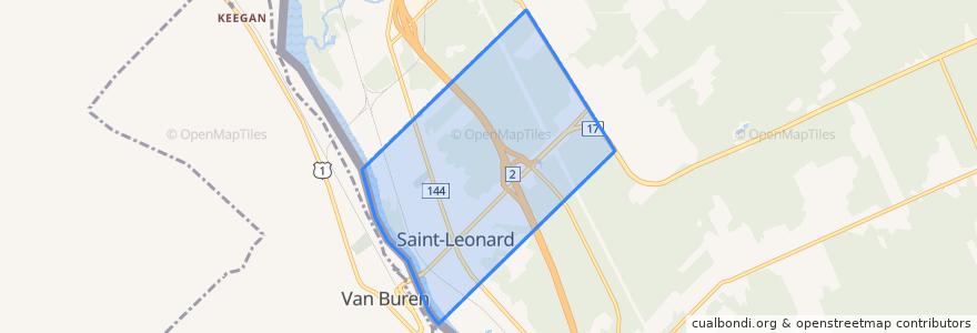 Mapa de ubicacion de Saint-Leonard.