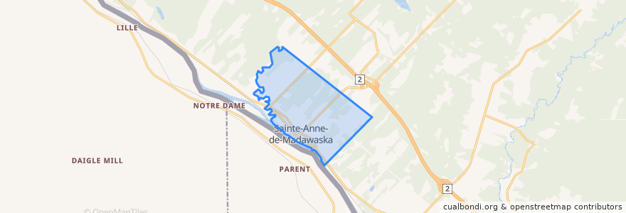 Mapa de ubicacion de Sainte-Anne-de-Madawaska.