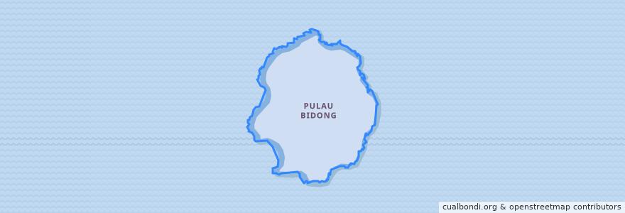 Mapa de ubicacion de Pulau Bidong.
