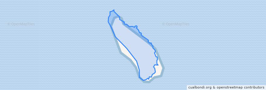 Mapa de ubicacion de Pulau Yu Besar.