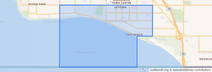 Mapa de ubicacion de White Rock.