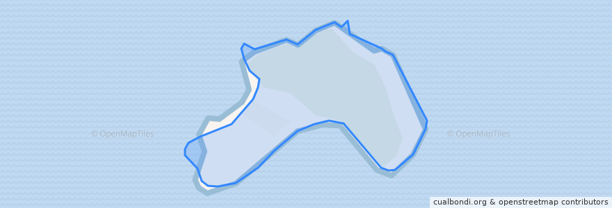 Mapa de ubicacion de Pulau Rhu.