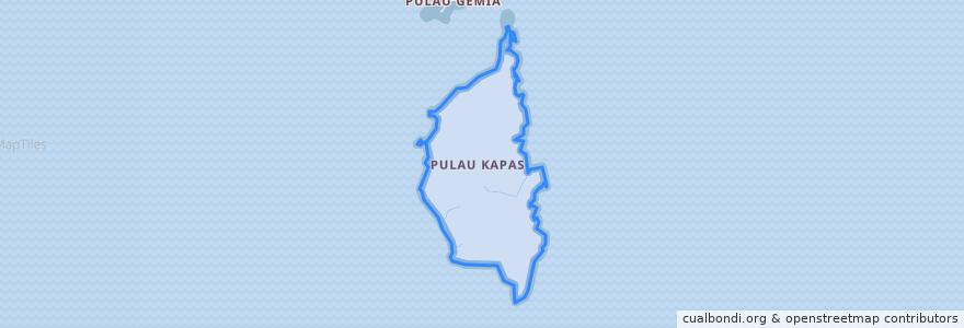 Mapa de ubicacion de Pulau Kapas.