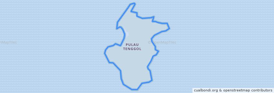 Mapa de ubicacion de Pulau Tenggol.