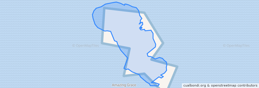 Mapa de ubicacion de Pulau Nyirih.