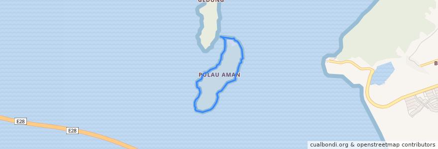 Mapa de ubicacion de Pulau Aman.