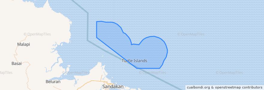 Mapa de ubicacion de Turtle Islands.