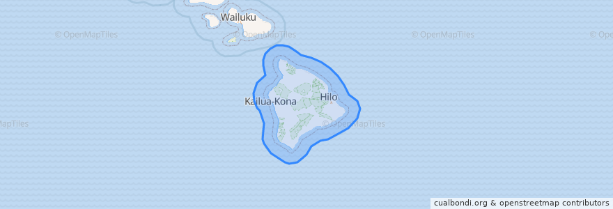 Mapa de ubicacion de United States of America (Island of Hawai'i territorial waters).