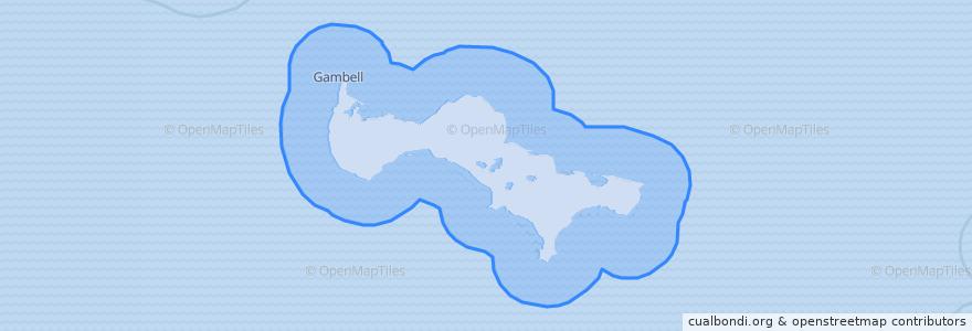 Mapa de ubicacion de United States of America (Saint Lawrence Island).