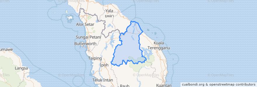 Mapa de ubicacion de Kelantan.