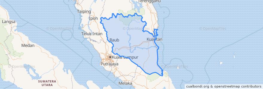 Mapa de ubicacion de Pahang.