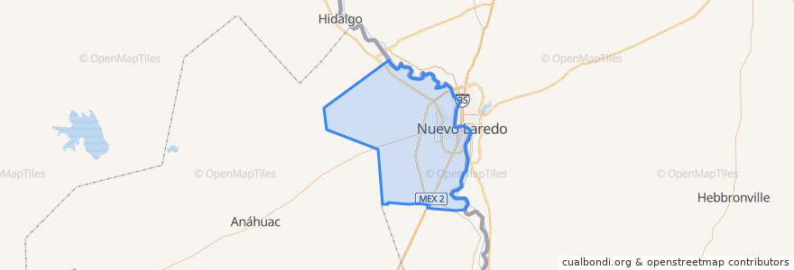 Mapa de ubicacion de Nuevo Laredo.