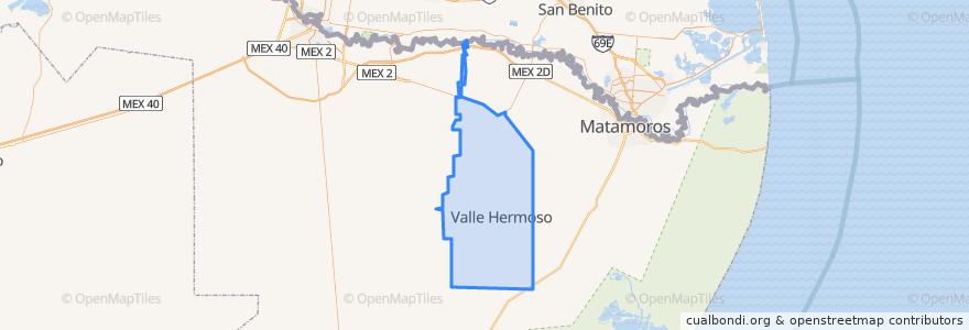 Mapa de ubicacion de Valle Hermoso.