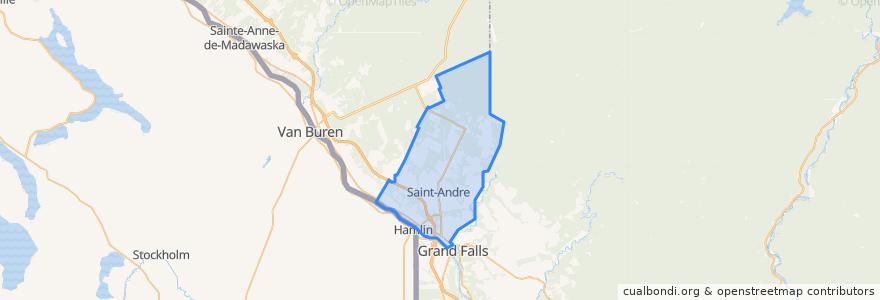 Mapa de ubicacion de Saint-Andre Parish.