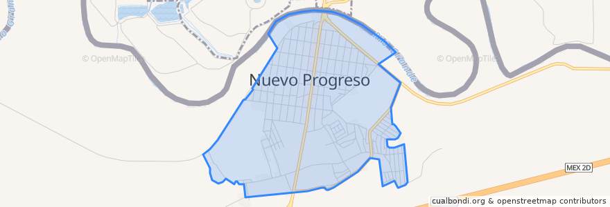 Mapa de ubicacion de Nuevo Progreso.