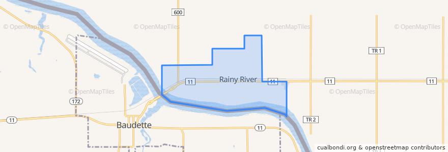 Mapa de ubicacion de Rainy River.