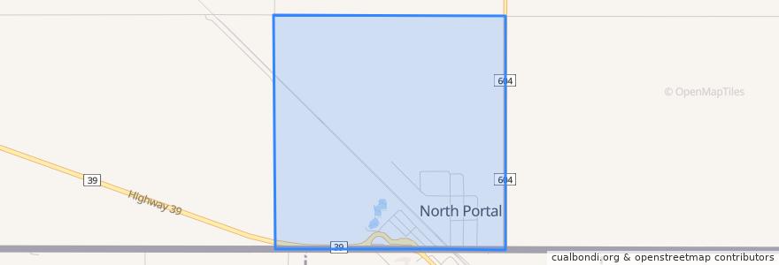 Mapa de ubicacion de North Portal.