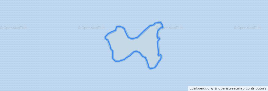 Mapa de ubicacion de Pulau Rimau.