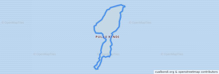 Mapa de ubicacion de Pulau Kendi.