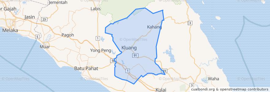 Mapa de ubicacion de Kluang.