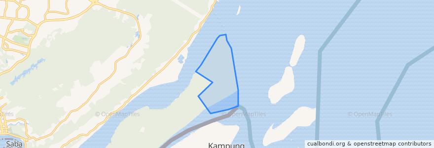 Mapa de ubicacion de Tanjong Kindana.