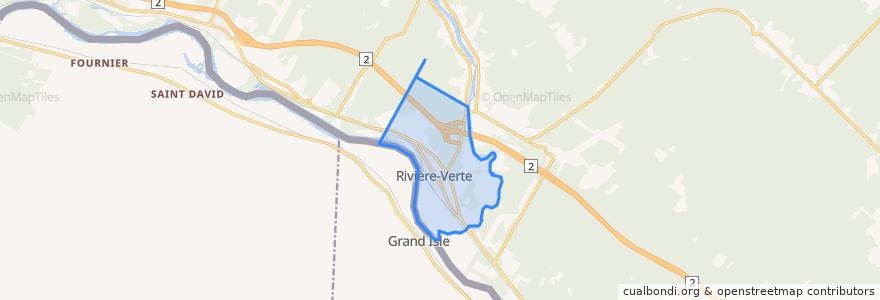 Mapa de ubicacion de Rivière-Verte.
