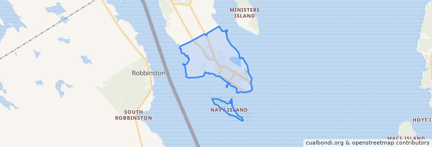 Mapa de ubicacion de Town of Saint Andrews.