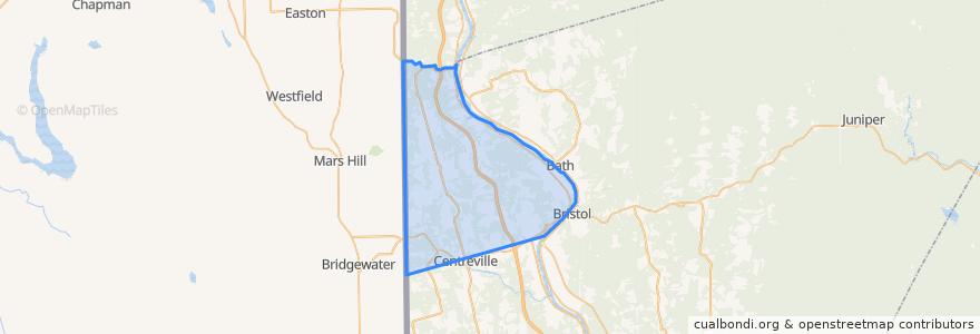 Mapa de ubicacion de Wicklow Parish.