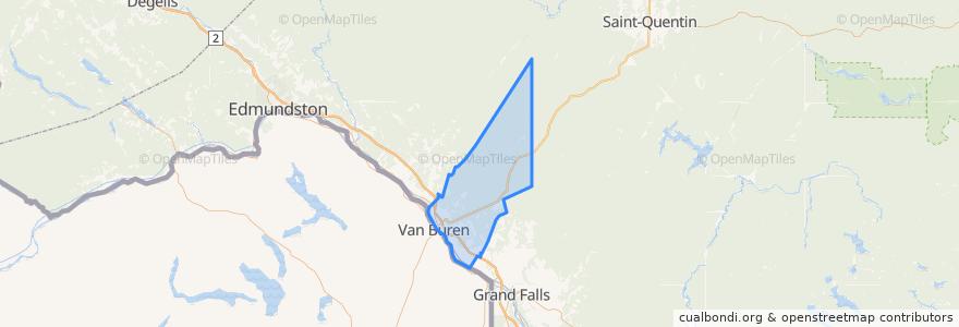 Mapa de ubicacion de Saint-Leonard Parish.