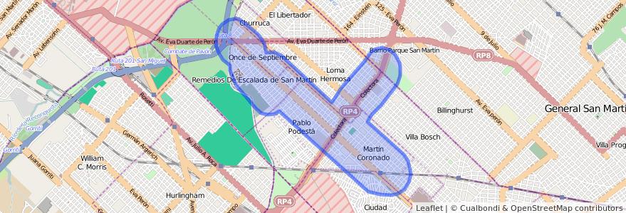 Cobertura de transporte público de la línea 169 en Buenos Aires.