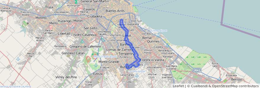 Cobertura de transporte público de la línea 177 en Buenos Aires.