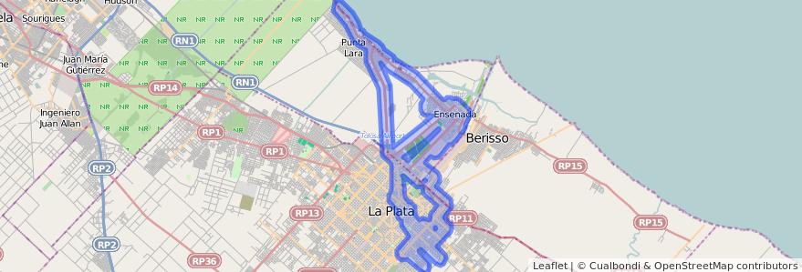 Cobertura de transporte público de la línea 275 en Buenos Aires.