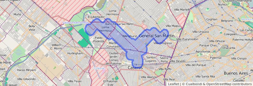 Cobertura de transporte público de la línea 328 en Buenos Aires.