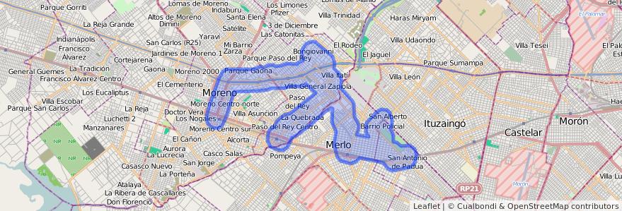 Cobertura de transporte público de la línea 329 en Buenos Aires.