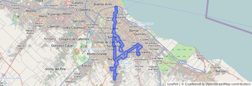 Cobertura de transporte público de la línea 79 en Buenos Aires.