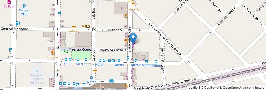 Mapa de ubicacion de 20 de Junio en Argentina, Buenos Aires, Partido De Morón, Morón.