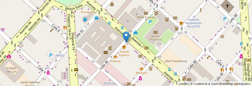 Mapa de ubicacion de 365 a Full, Casco Urbano en La Plata, Partido De La Plata, Buenos Aires, Argentina.