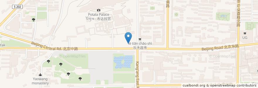 Mapa de ubicacion de 吉崩岗街道 en 中国, 西藏自治区, ལྷ་ས་གྲོང་ཁྱེར་ / 拉萨市 / Lhasa, ཁྲིན་ཀོན་ཆུས་ / 城关区 / Chengguan, 吉崩岗街道.