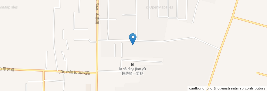Mapa de ubicacion de 扎细街道 en 中国, 西藏自治区, ལྷ་ས་གྲོང་ཁྱེར་ / 拉萨市 / Lhasa, ཁྲིན་ཀོན་ཆུས་ / 城关区 / Chengguan, 扎细街道.