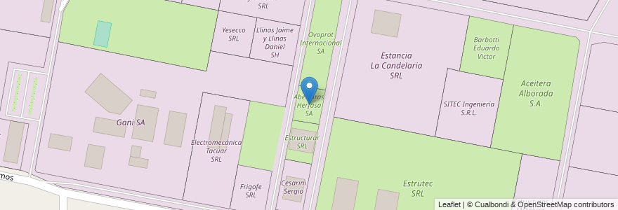 Mapa de ubicacion de Aberturas Herfasa SA en Argentina, Santa Fe, Departamento La Capital, Municipio De Sauce Viejo.