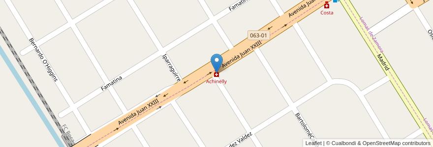 Mapa de ubicacion de Achinelly en Argentina, Buenos Aires, Partido De Lomas De Zamora, Llavallol, Lomas De Zamora.