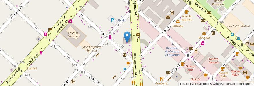 Mapa de ubicacion de Afro Hair, Casco Urbano en La Plata, Partido De La Plata, Buenos Aires, Argentina.
