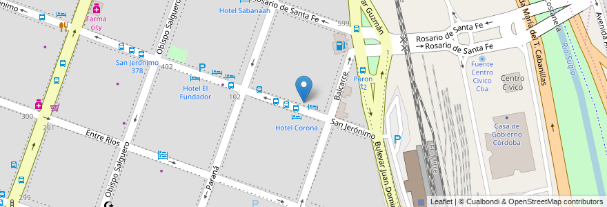 Mapa de ubicacion de Alemana en Argentina, Córdoba, Departamento Capital, Pedanía Capital, Córdoba, Municipio De Córdoba.