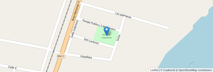 Mapa de ubicacion de Altos de Uspallata en Argentina, Santa Fe, Departamento La Capital, Municipio De Sauce Viejo.
