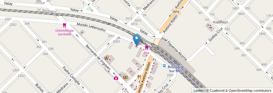 Mapa de ubicacion de Amancay en Argentina, Buenos Aires, Partido De San Isidro, Boulogne Sur Mer.