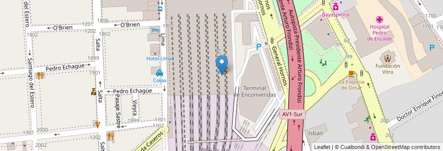 Mapa de ubicacion de Andén 12 y 13, Constitucion en Buenos Aires, Ciudad Autónoma De Buenos Aires, Argentina.